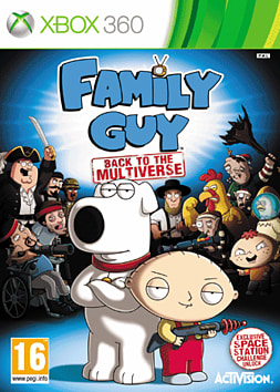 Family Guy: Back to the Multiverse GAME Exclusive Space Station Edition Xbox 360 Cover Art