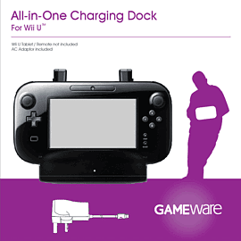 GAMEware Wii U All-In-One Charging Dock Accessories
