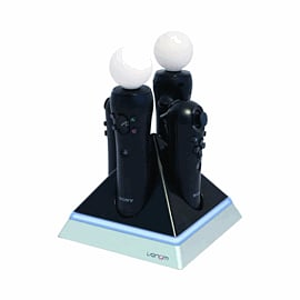 Quad Pyramid Charger For Playstation Move Accessories