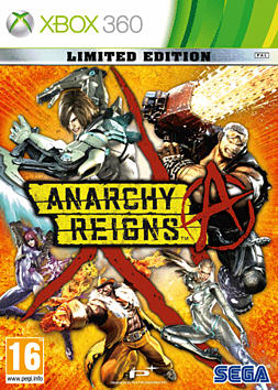 Anarchy Reigns - Limited Edition Xbox 360 Cover Art