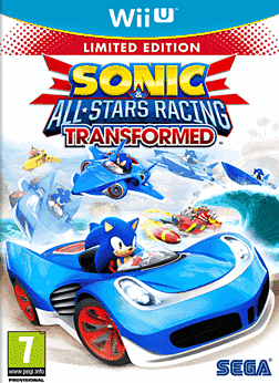 Sonic & All-Stars Racing Transformed Limited Edition Wii U Cover Art
