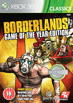 Borderlands Game of the Year Edition (Classics) Xbox 360