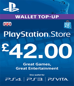 £42 PlayStation Network Wallet Top Up PlayStation Network
