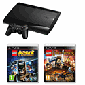 Playstation 3 Slim 12Gb Bundle With Lego Lord Of The Rings And Lego Batman DC 2 PlayStation 3