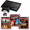 Playstation 3 500Gb with Killzone 2, Resistance 2, InFAMOUS 2 and 25 PSN Card Playstation 3