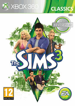 The Sims 3 Classic Xbox 360 Cover Art