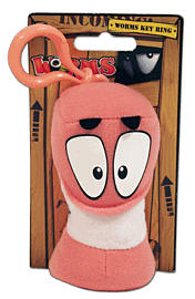 Worms Keyring Classic Plush Toys and Gadgets