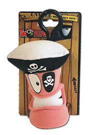 Worms Keyring Pirate Plush Toys and Gadgets