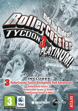 RollerCoaster Tycoon 3: Platinum (MAC) Mac Cover Art
