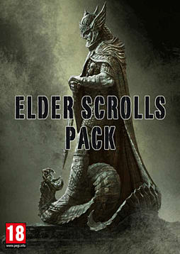 Elder Scrolls Bundle - Oblivion GOTY, Morrowind GOTY, Skyrim, Hearthfire and Dawnguard PC-Games Cover Art