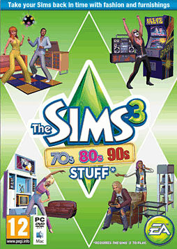 The Sims 3: 70s, 80s & 90s Stuff PC Games Cover Art