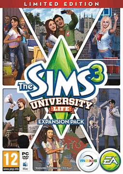 The Sims 3: University Life Limited Edition PC Games Cover Art