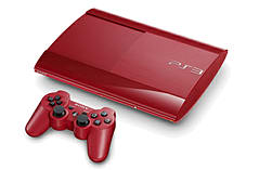 PlayStation 3 500GB Slim - Red - GAME Exclusive screen shot 1