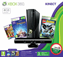 Xbox 360 4GB Console with Kinect Sensor and Kinect Adventures with Lego Batman Classics and DisneyLand Adventures Xbox 360