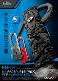 Gioteck EX-02 Bluetooth Headset for PlayStation 3 with x3 Faceplate Pack Accessories