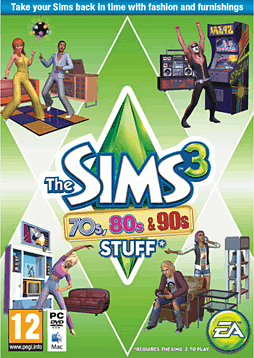 The Sims 3: 70s, 80s, 90s Stuff Pack PC Games Cover Art