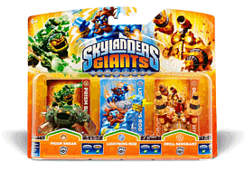Skylanders Giants Character Triple Pack - Prism Break, Lightning Rod, Drill Sergeant Toys and Gadgets