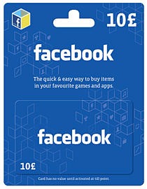 Facebook Giftcard - £10 Gifts