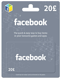 Facebook Giftcard - £20 Gifts