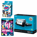 Black Wii U Premium Console with Sing Party and Just Dance 4 Wii U