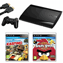 Playstation 3 12GB Slim with Little Big Planet Karting, Angry Birds Trilogy and HDMI Cable Playstation 3