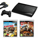Playstation 3 12GB Slim with Little Big Planet Karting, LEGO Lord Of The Rings and HDMI Cable Playstation 3