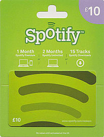 Spotify Gift Card - £10 Gifts