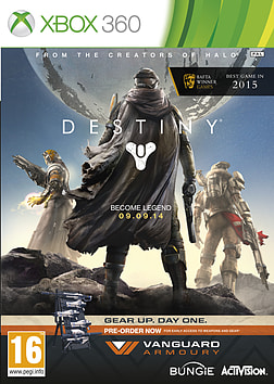 Destiny + Vanguard Xbox 360 Cover Art