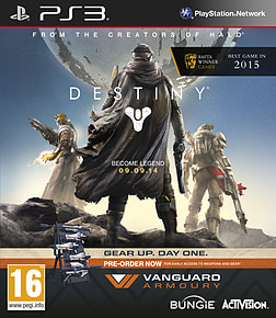 Destiny + Vanguard - Only at GAME PlayStation 3 Cover Art