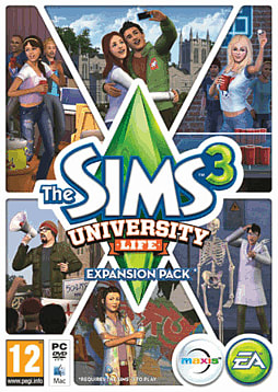 The Sims 3: University Life PC Games Cover Art