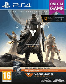 Destiny + Vanguard - Only at GAME PlayStation 4 Cover Art