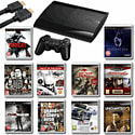 Playstation 3 500GB Slim With Tomb Raider, GTA IV, Gran Turismo 5 Academy Edition, Uncharted 3, Sleeping Dogs And More Playstation 3