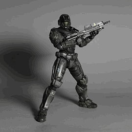 Halo: Reach Play Arts Kai Vol.1 Noble Six Figure Toys and Gadgets