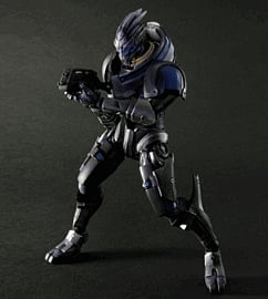 Mass Effect 3 Play Arts Kai Garrus Vakarian Figure Counter Basket