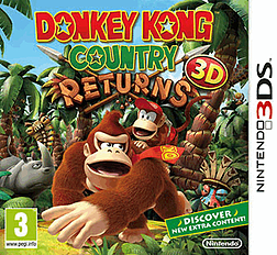 Donkey Kong Country Returns 3D 3DS Cover Art