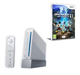 Nintendo Wii: White Console Family Edition With Wii Play, Wii Sport And Epic Mickey 2: The Power Of Two Wii