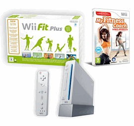Nintendo Wii: White Console Family Edition With My Fitness Coach: Dance Workout And Wii Fit Plus Including Balance Board Wii