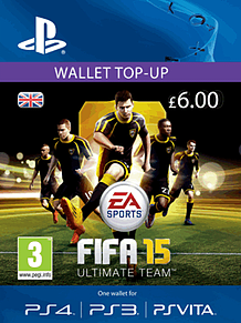FIFA 15 Ultimate Team Wallet £6 Top Up PlayStation Network Cover Art