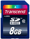Transcend 8GB SD Card (compatible with Nintendo 3DS and 3DS XL) Accessories