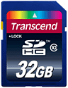 Transcend 32GB SD Card (compatible with Nintendo 3DS and 3DS XL) Accessories