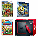 Wii Mini with Mario Party 8 - Nintendo Selects, World of Zoo and Spongebob Squarepants: Creature from the Krusty Crab Wii