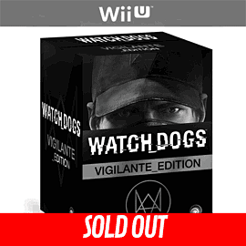 Watch Dogs Vigilante Edition - Only at GAME Wii-U Cover Art