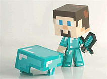 Minecraft Diamond Steve Collectable Vinyl Figure screen shot 1