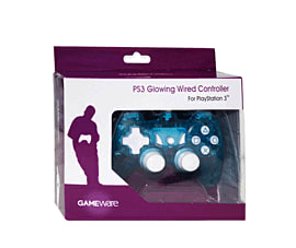 GAMEware Glowing Wired Controller for PlayStation 3 Accessories