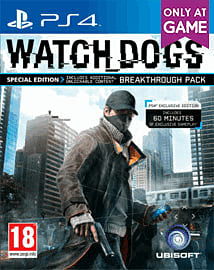 Watch Dogs Special Edition - Only at GAME PlayStation 4 Cover Art