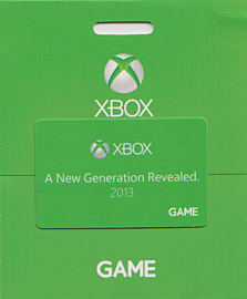 GAME Stores £20 Xbox One Gift Card Gifts