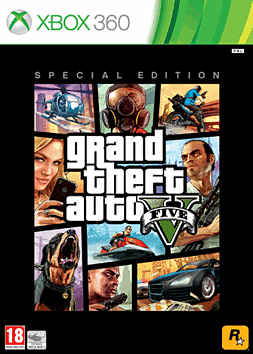 Grand Theft Auto V Special Edition Xbox-360 Cover Art