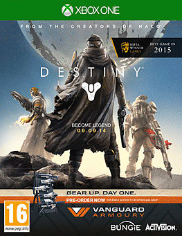 Destiny + Vanguard Xbox One Cover Art