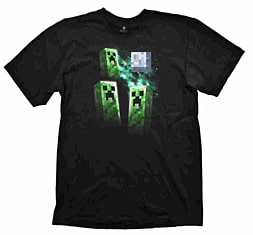 Minecraft T-Shirt - Three Creeper Moon - Size XL Clothing and Merchandise