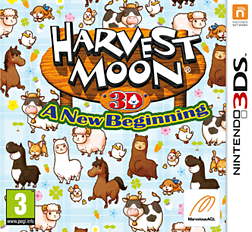 Harvest Moon: A New Beginning 3DS Cover Art